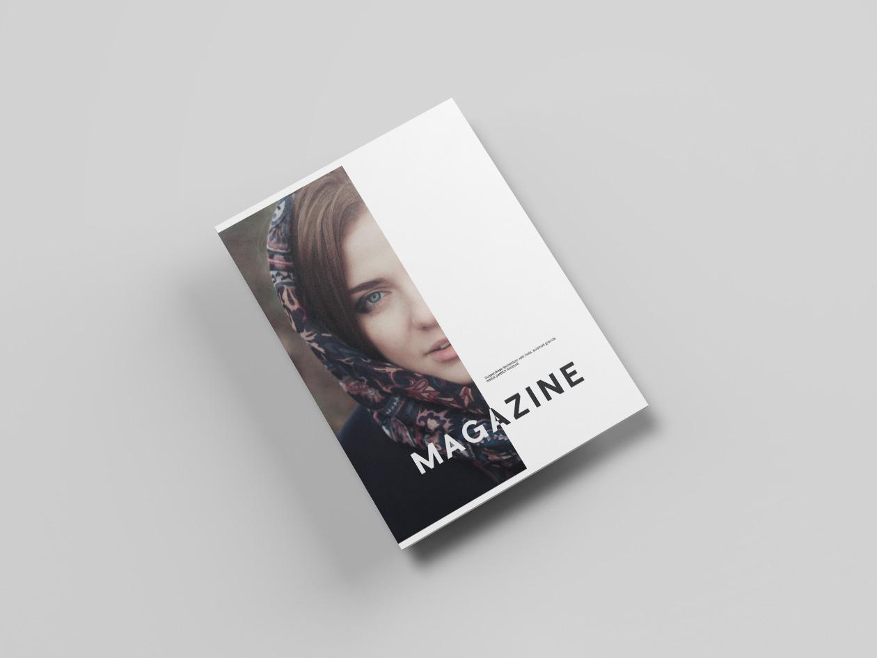 Letter Size Magazine Mockup