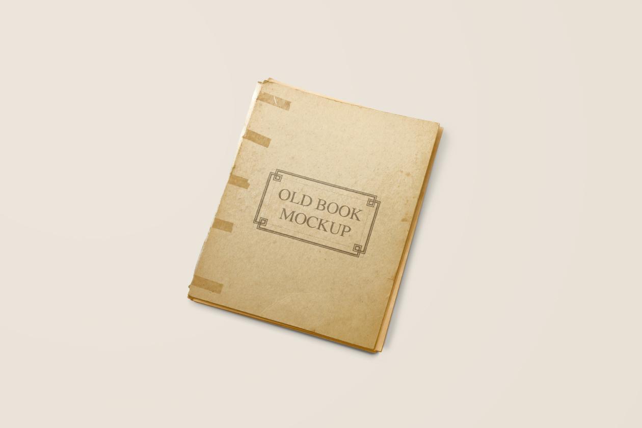 Old Vintage Book Mockup