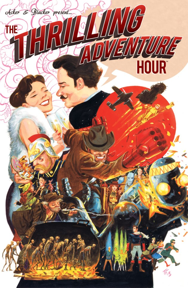 The Thrilling Adventure Hour GN Cover - Illustrated by Tom Fowler