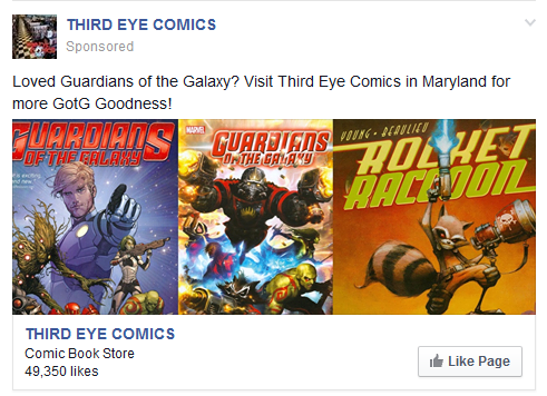 Third Eye Comics, Facebook Advertising Done Right