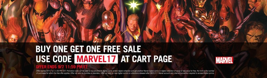 Marvel's Digital Buy One Get One Sale - Graphic Policy