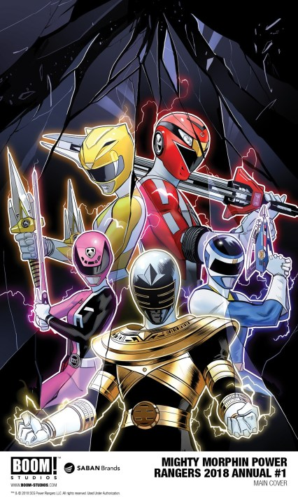 Mighty Morphin Power Rangers 2018 Annual #1 main cover by Dan Mora