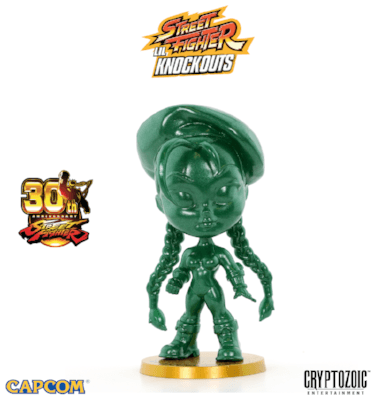 Metallic Green Cammy Street Fighter Lil Knockouts Vinyl Figure 1
