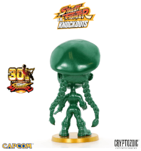Metallic Green Cammy Street Fighter Lil Knockouts Vinyl Figure 3