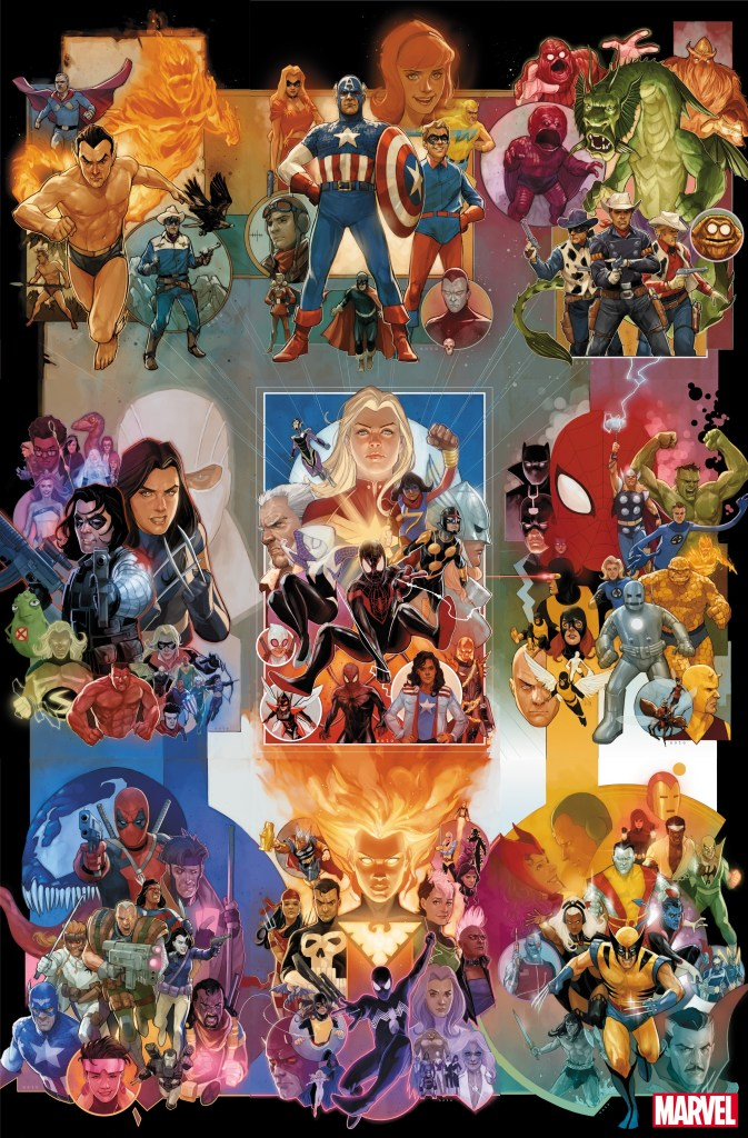 Marvel 80th Anniversary-themed variant covers by Phil Noto