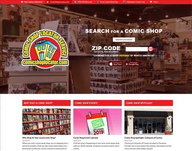 Comic Shop Locator