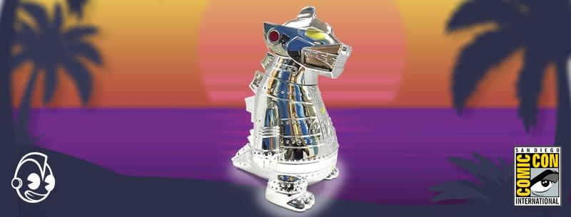"Kidrobot Mecha Godzilla 8"" Vinyl Art Figure - Chrome Electroplated"