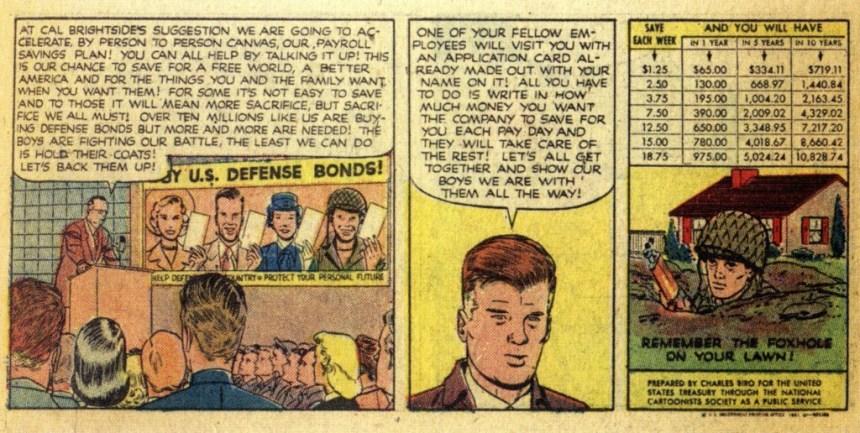 gov comics propaganda mixed with informative Charles Biro creator of Airboy