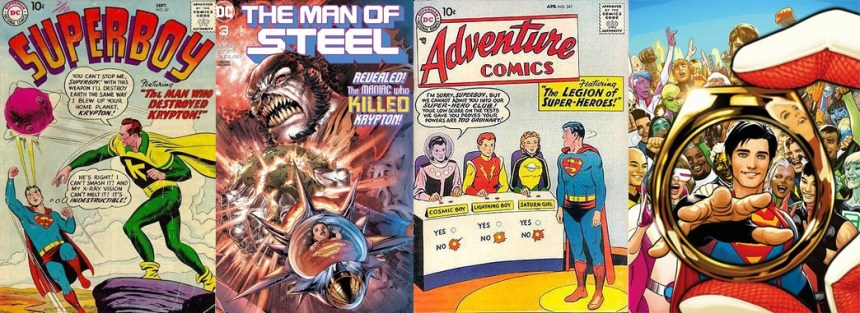 Superboy, The Man of Steel, Adventure Comics, Legion of Super-Heroes Smallville