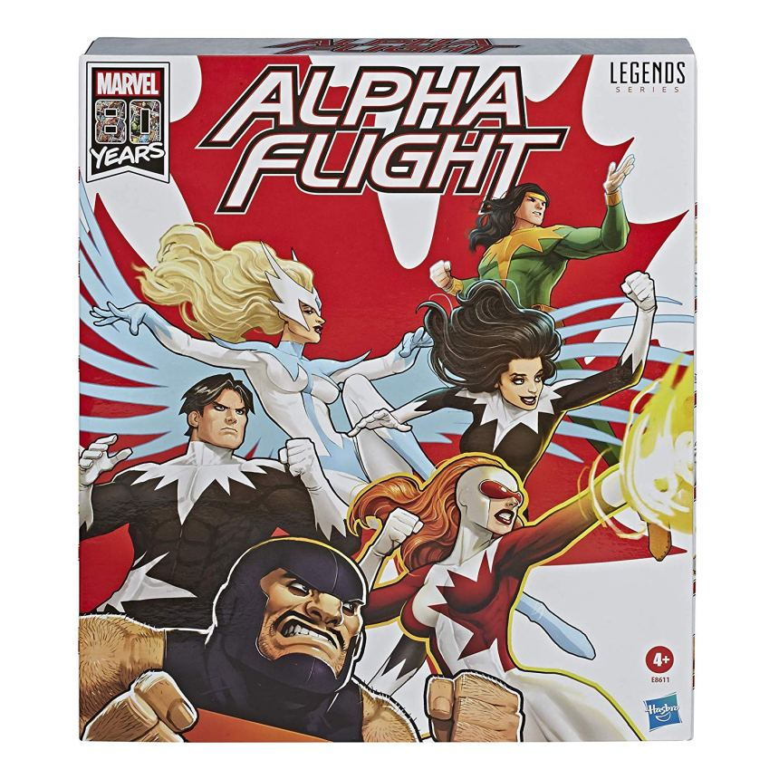 MARVEL LEGENDS SERIES 6-INCH APLHA FLIGHT 6-Pack box front