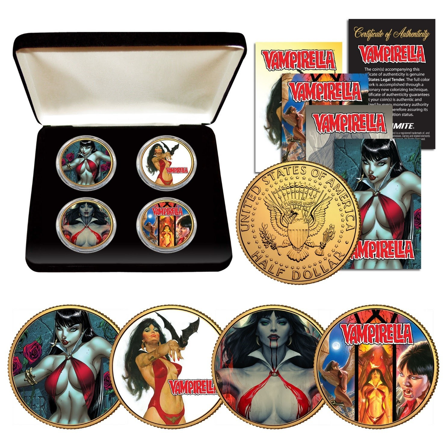 Vampirella NEW !! Parrillo Collectible Coin With Stand /& Cert !!