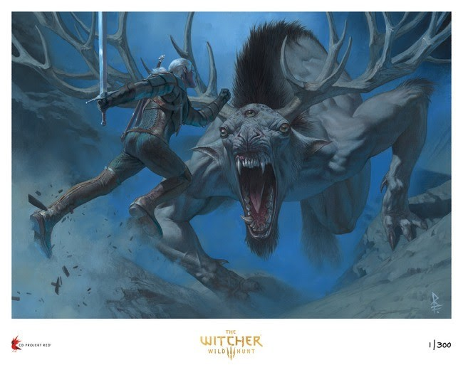 "Dark Horse Direct's The Witcher 3: Wild Hunt Giclée Fine Art Print, ""Return to Crookback Bog"" (Riccardo Federici)"