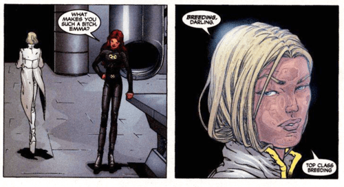"""Image result for emma frost + top class breeding"""""""