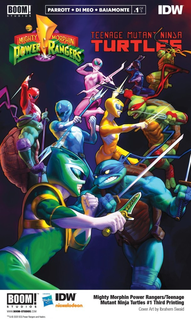 Mighty Morphin Power Rangers/Teenage Mutant Ninja Turtles #1 Third Printing