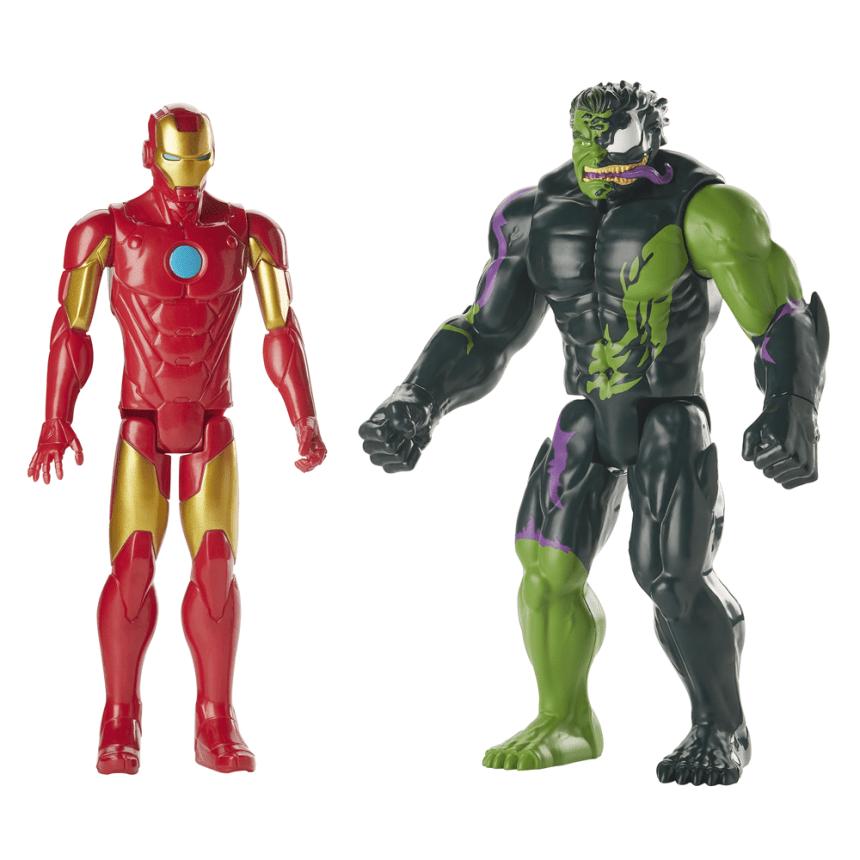 SPIDER-MAN MAXIMUM VENOM IRON MAN VS. VENOMIZED HULK Figure 2-Pack