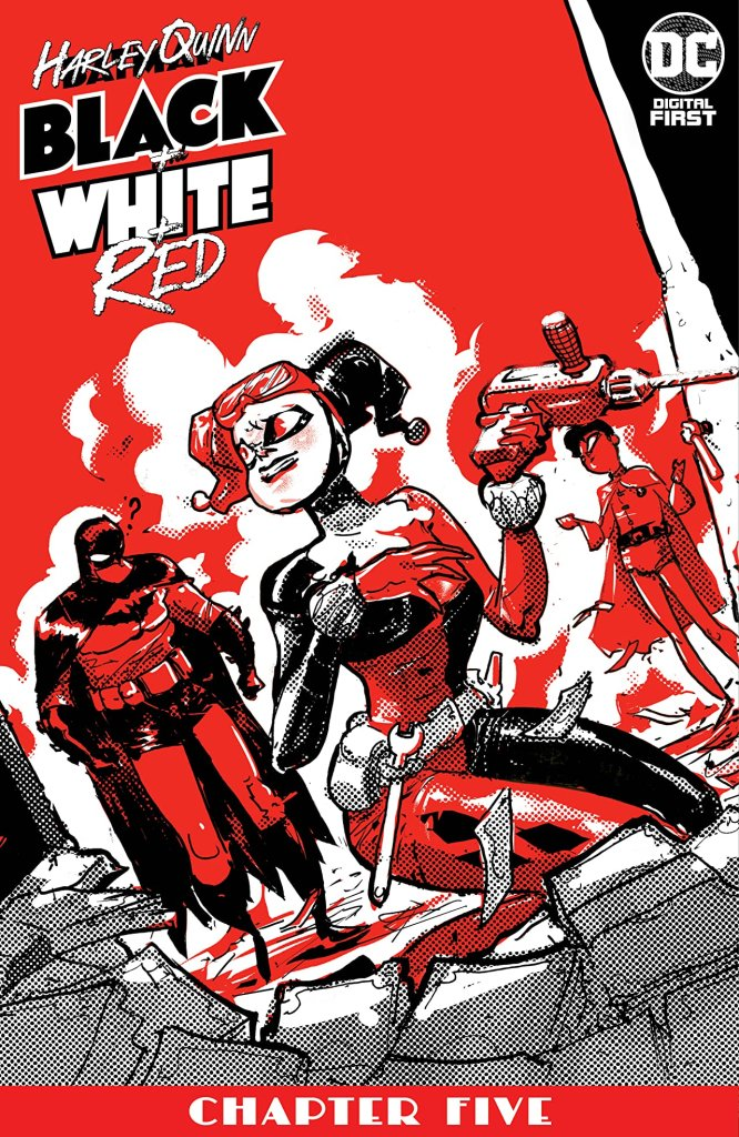 Harley Quinn Black + White + Red #5