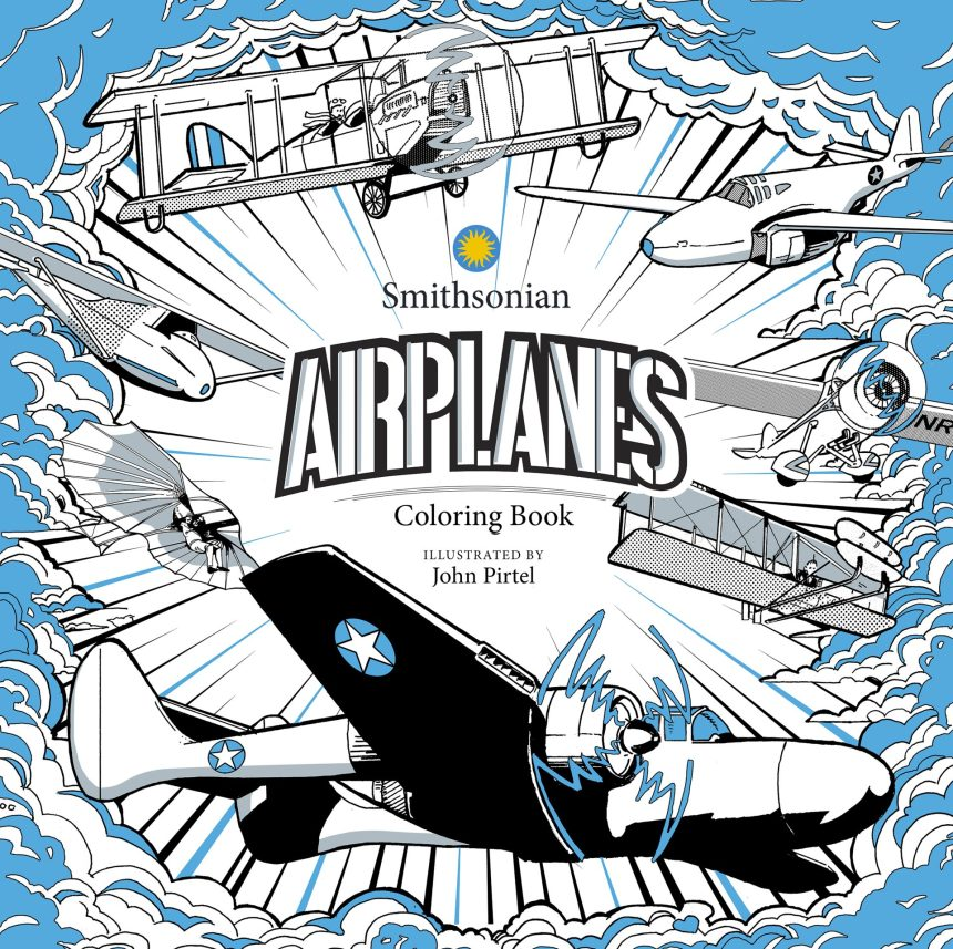 Smithsonian: Airplane Coloring Book