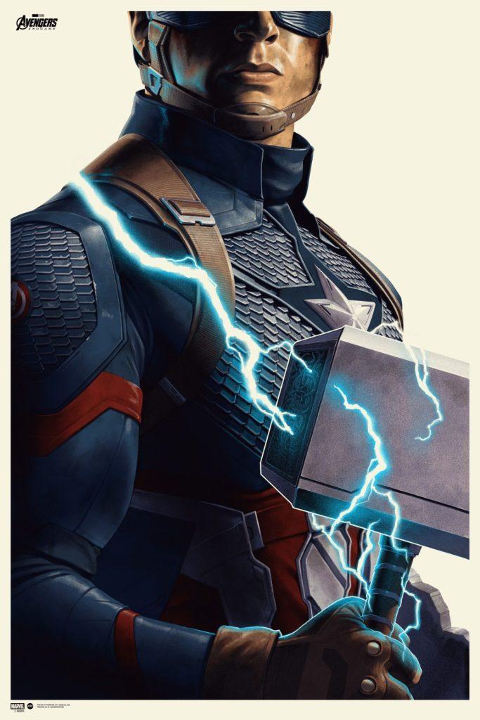 Avengers: Endgame - Captain America Screenprinted Poster