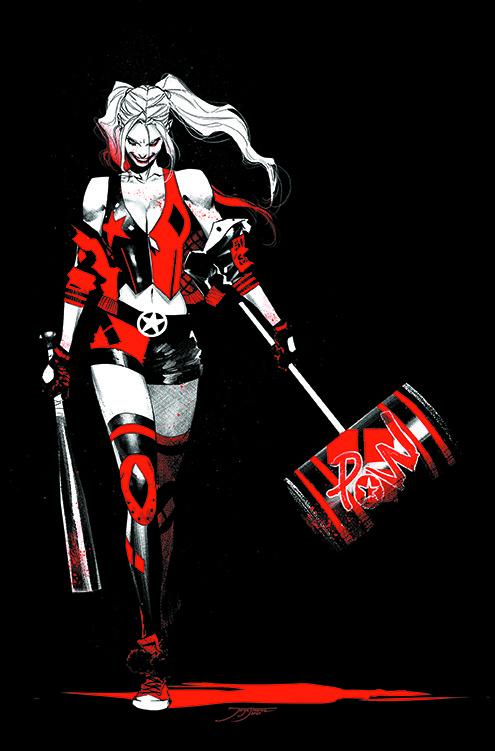 HARLEY QUINN BLACK + WHITE + RED TP
