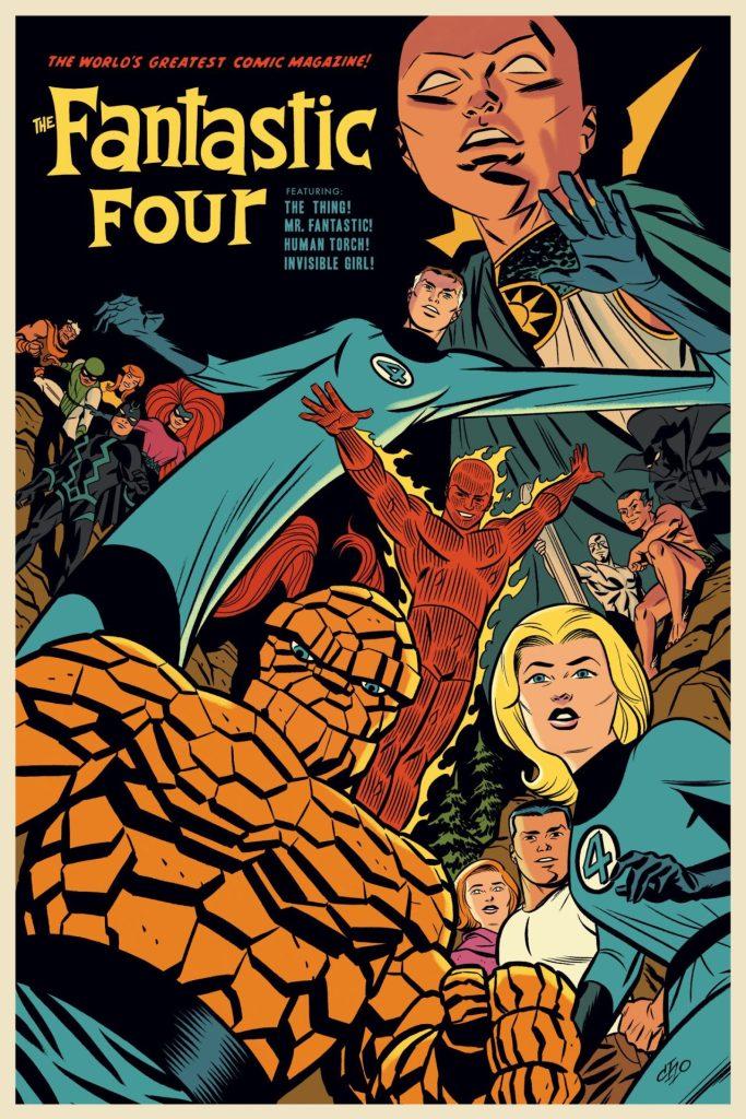 The Fantastic Four Screenprinted Poster