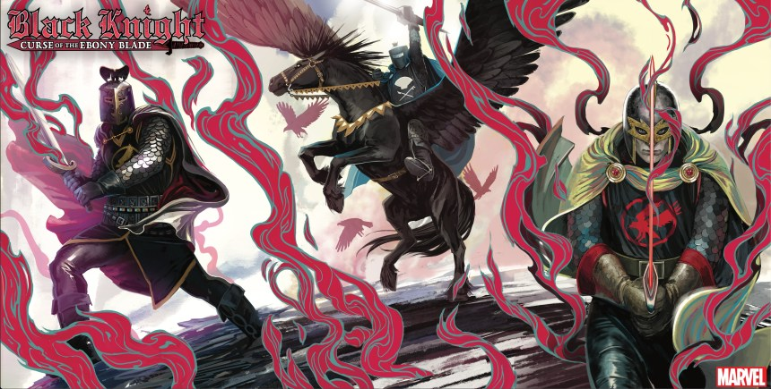 Black Knight: Curse of the Ebony Blade Legend of the Black Knight variant covers
