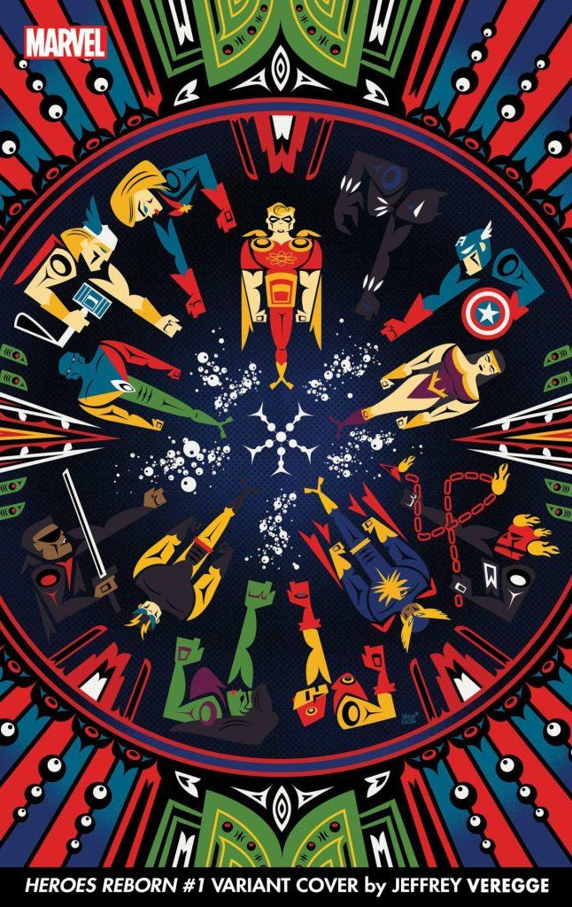HEROES REBORN #1 Jeffrey Veregge variant