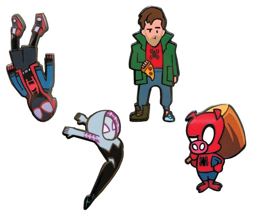 Free Comic Book Day Spider-Man: Spider-Verse 4-Piece Enamel Pin Set