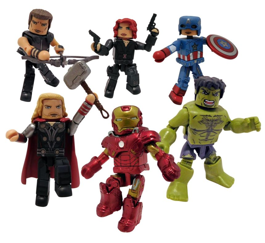San Diego 2021 Marvel Minimates Avengers Movie Commemorative Gift Set