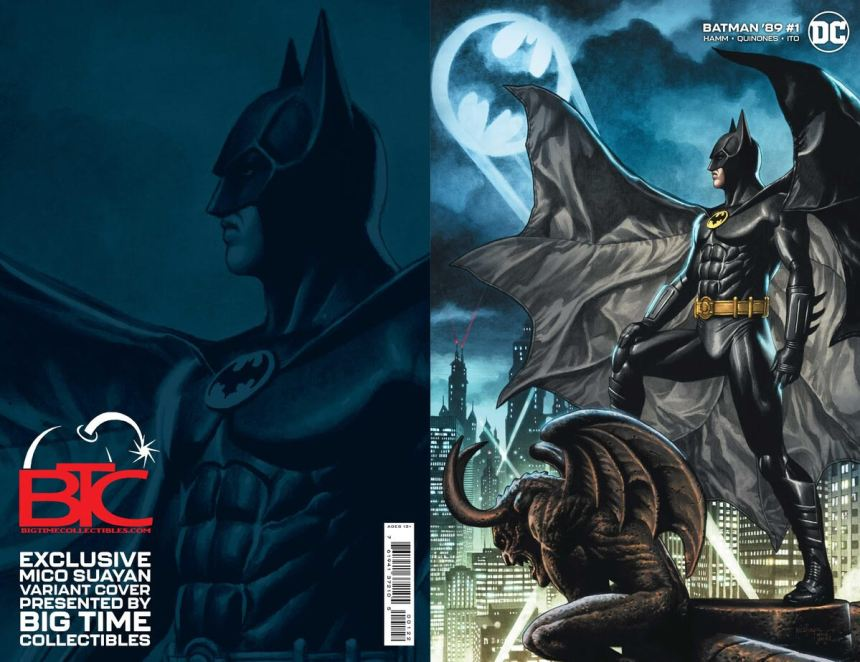 Batman '89 #1 variant cover by Mico Suayan, available from Big Time Collectibles