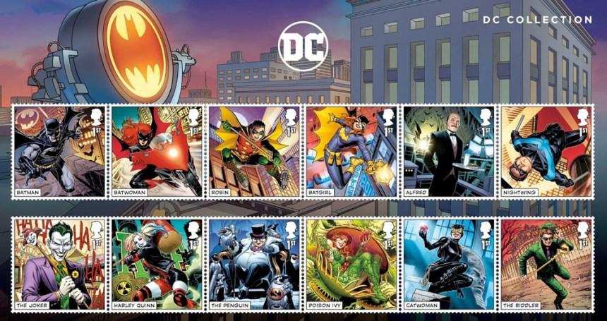 Batman stamps