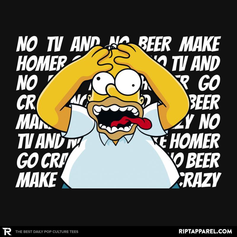 No TV and No Beer...