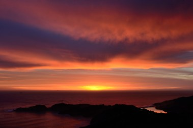 Clouds on fire over Point Bonita, Marin Headlands