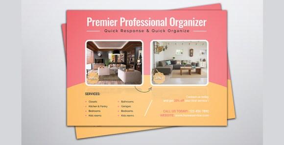 Home Organizer Service Marketing EDDM Postcard