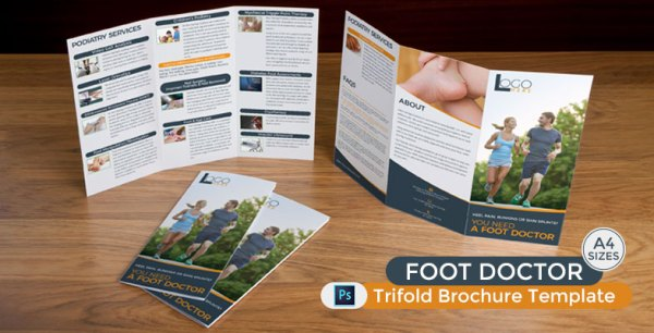 Foot Doctor Trifold Brochure Template