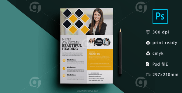 Corporate Marketing Flyer Template Download