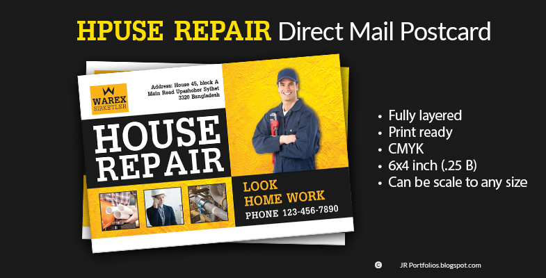 House Repair promotional Postcard Cover