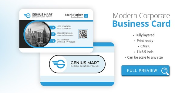 Rounded Modern Corporate Business Card