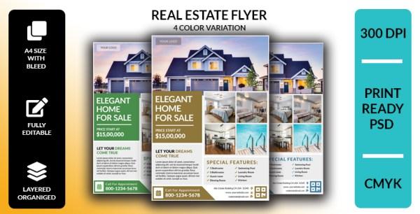 Real Estate Flyer ( 4 Color Pack )