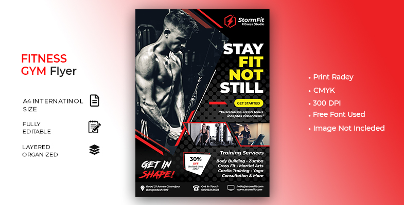 Fitness Flyer Cover Image