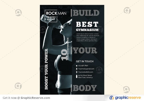 Fitness Training Center Promotional Flyer Template
