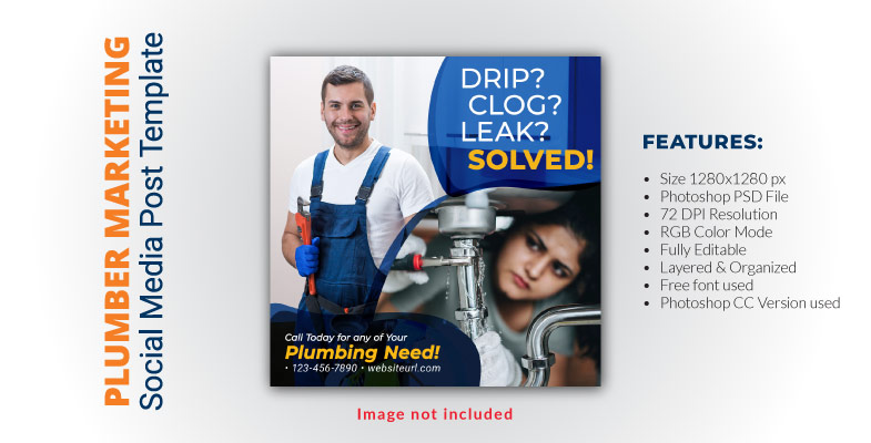 Plumber Services Social Media Post Template 4