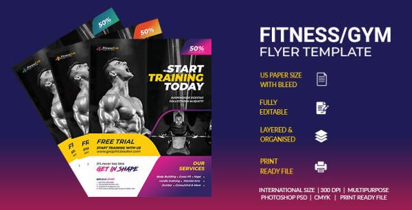 Fitness-GYM Flyer Template
