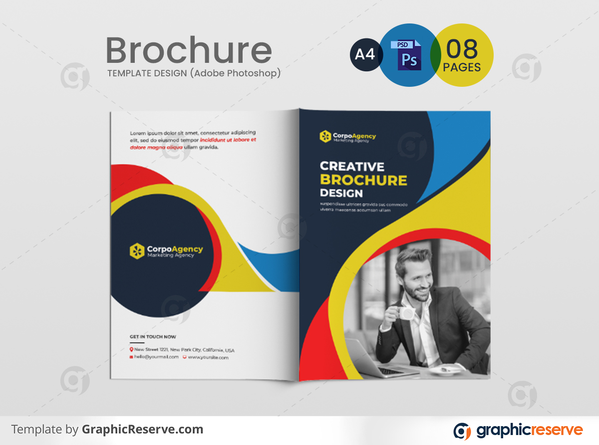 Corporate business profile 08 pages brochure template