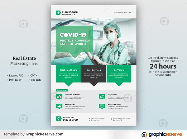 Covid 19 Health Care Medical Flyer