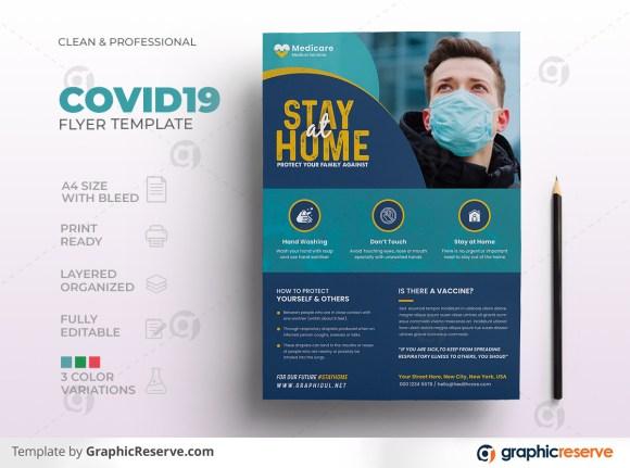 Covid19 Coronavirus Flyer Template
