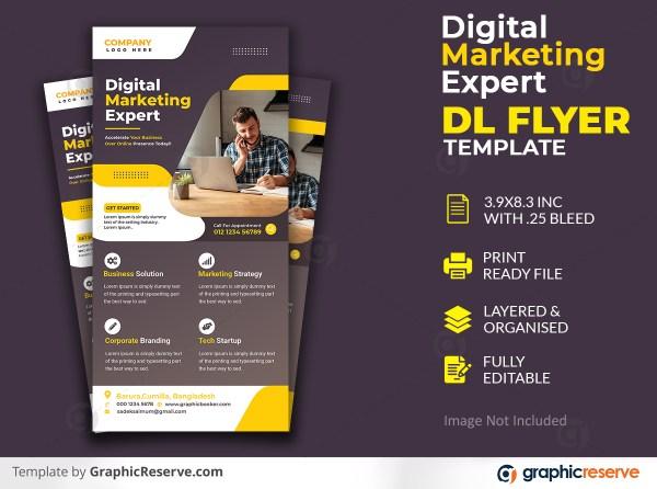 Digital Marketing Expert Dl Flyer template