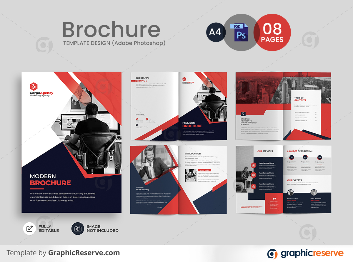 Professional corporate business profile pages Brochure template