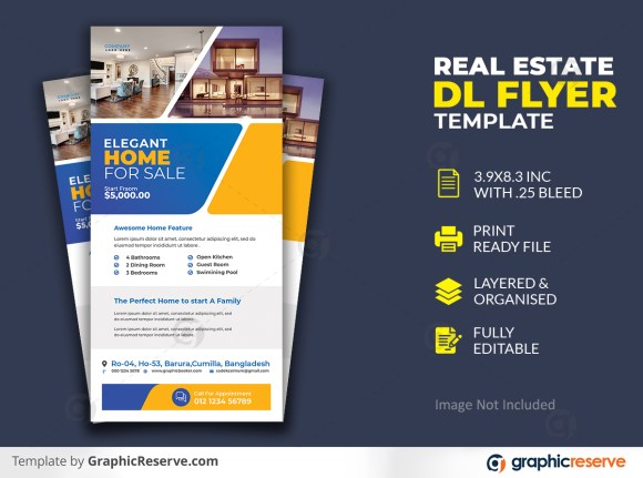 Real Estate Dl Flyer Template Premium PSD