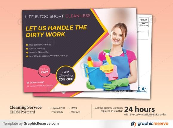 Cleaning Services EDDM Postcard