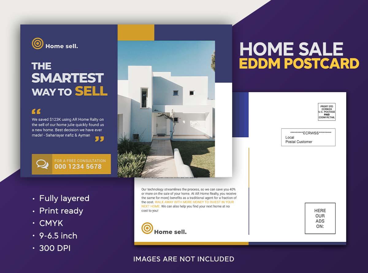 Real estate Hous for sale eddm postcard design template by Sahariya